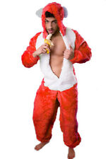 Bear Costume red Plush fancy dress Paintball Bad Taste Stag party Theme party
