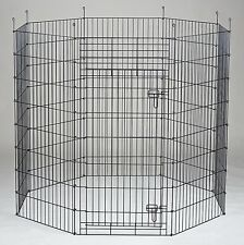 New Homey Pet Outdoor 8 Panels Dog Playpen Exercise Pen Fence in 24 30 36 42 48