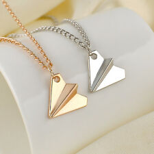 One Direction 1D Harry Styles Paper Airplane Silver & Gold Charms Necklace Gifts