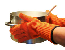 MEDIPAQ™ Long Wrist Heat Proof Oven Gloves - Protection Mitts Hot Kitchen Pots
