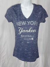New York Yankees Ladies Short Sleeve T-shirt New York Yankees Baseball Club Blue