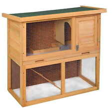 "Wooden Chicken Coop 35"" Hen House Rabbit Wood Hutch Poultry Cage Waterproof New"