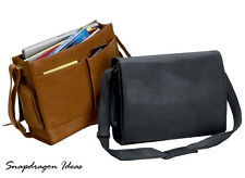 SnapdragonIdeas The Cancun Bellino Computer Sling Leather Briefcase P6094