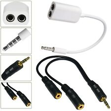 3.5MM HEADPHONE ADAPTER JACK TO JACK AUX SPLITTER PLUG FOR SAMSUNG GALAXY S6