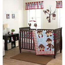 US Brand Max Monkey Baby Bedding Crib Cot Quilt Bumpers Sheet Music Mobile New