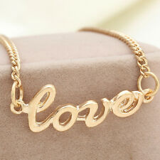 """Fashion Jewelry letter """"Love"""" Clavicle Pendant Chain Choker Necklace New"""