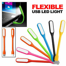 FLEXIBLE SILICONE USB LED LAPTOP LIGHT LAMP FOR CAMPING KEYBOARD NOTEBOOK
