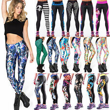 Women Slim Skinny Leggings YOGA Workout Gym Sports Pants Funky Jeggings Trousers
