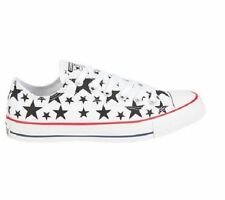 NEW CONVERSE CHUCK TAYLOR ALL STAR OX LOW 147120F WHITE/BLACK/STARS UNISEX SHOES