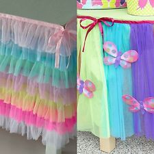 NEW HTF CHASING FIREFLIES HARAJUKU LOVER RAINBOW BUTTERFLIES TABLE SKIRT SECTION