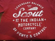 INDIAN MOTORCYCLE CHARLOTTE SCOUT TEE - RED