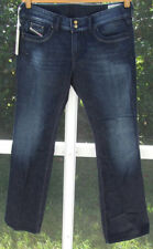 DIESEL INDUSTRY BLUE CLASSIC RONHAR COTTON BOOT CUT LOW 25/32 25/36 JEANS NEW