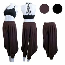 Women Casual Baggy Genie Harem Aladdin Gypsy Yoga Pants Trousers Jumpsuit