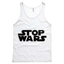 Stop Wars Mens Tank Star Wars Peace Soft Comfy Top 100% Cotton
