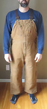 CARHARTT Bib Overalls Quilt-Lined Sandstone R27 211-Zip to Knee Leg Opening NWT