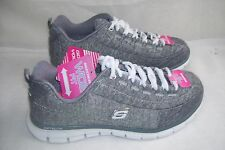 New Womens Skecher SpotOn Athletic (EW) Shoes with White Strings 11863 Gray  59A