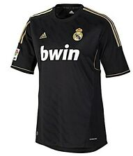 adidas Real Madrid CF 2011-2012 Away Soccer Jersey Brand New Black / Gold