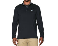 UNDER ARMOUR MENS INFRARED COLDGEAR 1/4-ZIP PULLOVER SHIRT BLACK #1259677-NWT