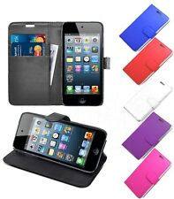 PU LEATHER WALLET BOOK FLIP SIDE OPENS CASE COVER FOR IPOD TOUCH 5 4