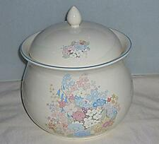 BEAUTIFUL LARGE POOLE POTTERY FLEUR LIDDED CASSEROLE DISH COOKING POT 21cm HIGH