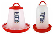 Eton Plastic Poultry / Chicken Feeder and Drinkers in 3 Sizes