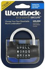 Wordlock  5-Dial Combination Padlock Security Safe Home Gym School Toolbox Lock