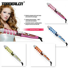 Electric Hair Curler Styler Spiral Rollers Curling Iron Wand Salon Styling Tool
