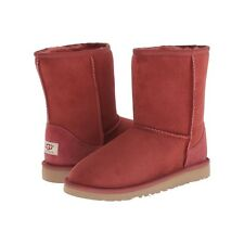 Girls Shoes UGG Australia Classic Short Slip On Boot Redwood