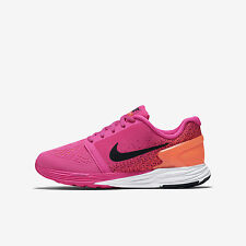 Youth Nike Lunarglide 7 (GS) Pink/Black/White Sz 4Y, 7Y 747966-600 FREE SHIPPING