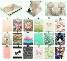 """Pretty Pattern For Apple iPad 4/3/2 9.7"""" Folding Leather Stand Smart Case Cover"""