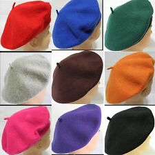 Ladies women's soft warm Wool French Artist Beret Beanie slouch Hat Cap New