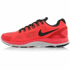 New Nike Mens Lunarglide+ 4 Shield Running Shoe Crimson/Black 537475-660 ***