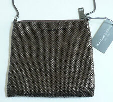 Whiting & Davis Cross Body Dance Bag Brass Mesh Removable Shoulder Strap NWT