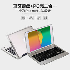 Aluminum  Metal Wireless Bluetooth Keyboard+PC Shell Cover Case For ipad mini