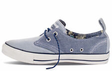 Converse All Star Blue Helmsman Ox Canvas Plimsole Trainers Low Shoes 136826C
