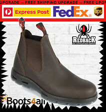 Redback Work Boots UNPU Great Barrier Water Resistant Nevada Puma Brown Slip On