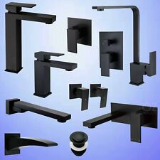 Bathroom Kitchen Basin Cabinet Sink Mixer Water Spout Swivel Tap Matt Black