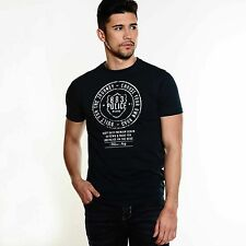 883 Police Heritage Mens Short Sleeve Crew Neck Regular Fit Navy Cotton T Shirt
