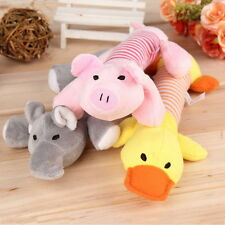 Puppy Chew Squeaker Squeaky Plush Sound Pig Elephant Duck Ball For Dog Toys BN
