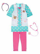 Girls Fancy Dress Costume Disney Doc McStuffins Dress Up 1-2  2-3  3-4 Years NEW