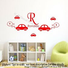 Car Wall Stickers Personalized Name Initial Removable Vinyl Decal Kid's Room Art