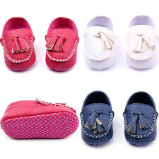 0-12M Newborn Baby Boys Girl Slip On Cozy Sole Shoes Soft Leather Toddler Shoes