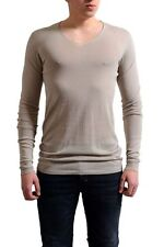"Rick Owens ""Faun S/S 15"" Men's Beige V-Neck Light Sweater Size S M L"