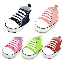 Soft Sole Crib Shoes Kid Infant Toddler Baby Boy Girl Slip-On Sneakers 0-18M