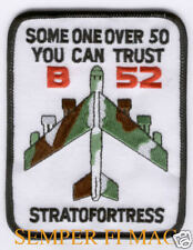 US AIR FORCE B-52 STRATOFORTRESS 50TH ANNIVERSARY HAT Patch BUFF AFB PILOT WOW
