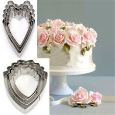 Stainless Steel Heart  Flower Leaf Biscuit Cake Cookie Cutters Baking Mould New