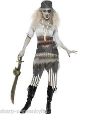 Ladies Ghost Ship Zombie Pirate Sexy Halloween Fancy Dress Costume Outfit 8-18