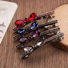 Chic Alloy Crystal Rhinestone Bow Bowknot Hairpin Bangs Clip HairClip Butterfly#