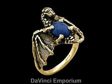Dragon Ring with Gemstone Belly in 14k Yellow Gold