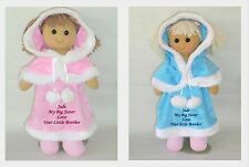 Personalised Rag Doll Big Sister Little Sister Brother New Baby Birth Gift